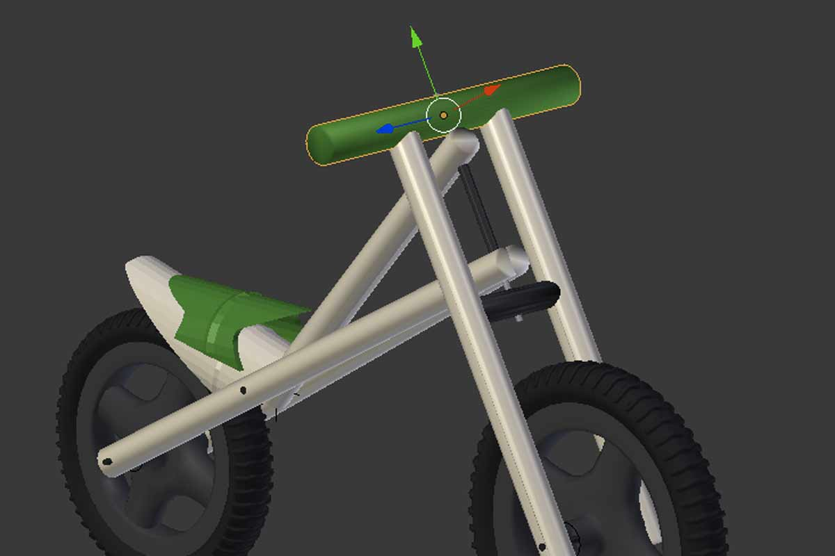 3d model of a pushbike