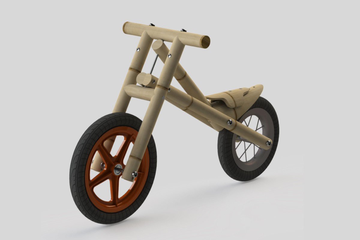 3D render push-bike
