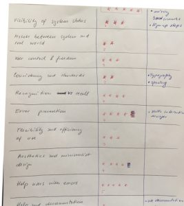 benchmark table heuristic evaluation hand written